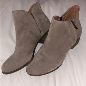 "Lucky Brand ""Brenon"" suede leather ankle booties"